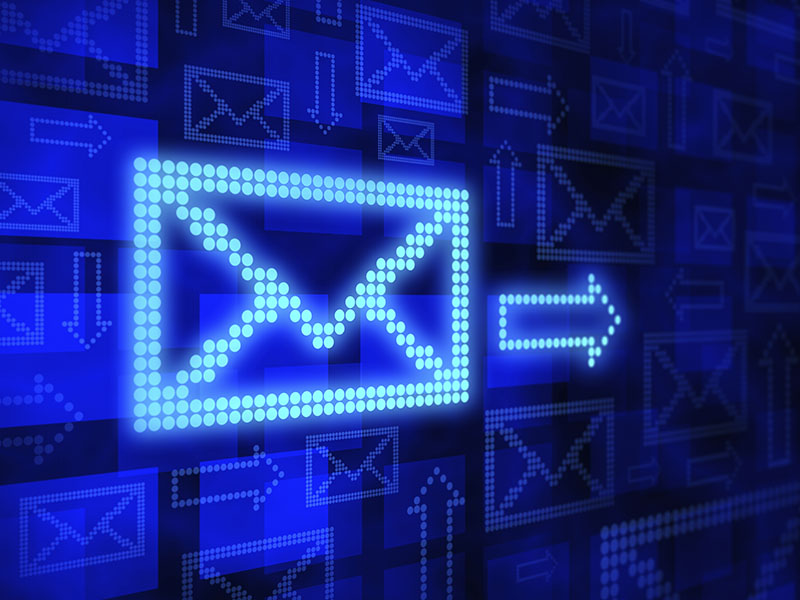 E-mail concept, 3d render